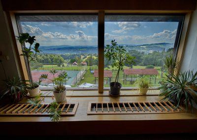 Ubytování na Benecku v Krkonoších - Horský hotel Kubát - výhled