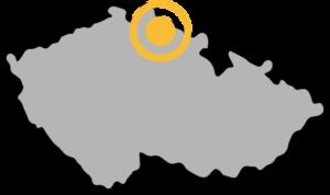 Ubytování na Benecku - Mapa ČR